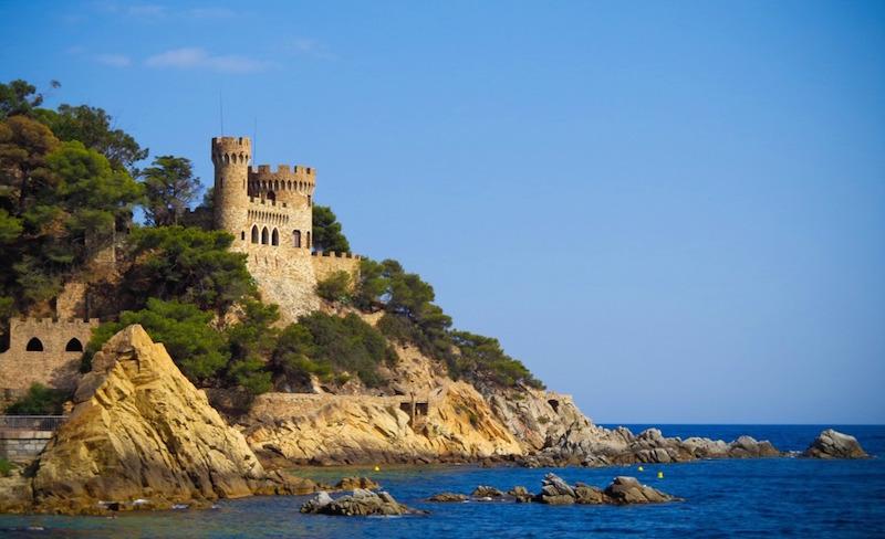 castle Sant Joan in Costa Brava Lloret De Mar Catalonia Spain